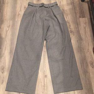 ARMAMI COLLEZIONI high waisted wide leg grey pants